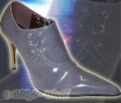 Elegante Lack Ankle Boots Gina grau