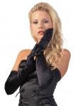 Edle elegante Satin Handschuhe in diversen Farben