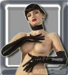 Extralange Latex Handschuhe schwarz