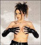 Edle knappe extralange Lack Handschuhe schwarz