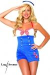 Leg Avenue - Heißes Kostüm Set: Matrosen-Kurzoverall mit Mütze