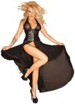 Noir Handmade - Tüll-Kleid mit Corsagen-Schließe ouvert schwarz