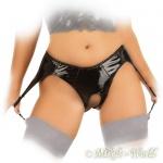 Ledapol - Extravaganter glänzender Lack Straps-Slip ouvert