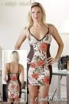 Enges kurzes leicht transparentes Kleid Negligé im bunten Animalprint