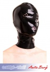 Anita Berg - Latex Kopfmaske mit Perforationen