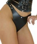 Ledapol - Echt Leder Harness Slip ouvert mit Klappe