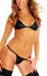 Ledapol - Knapper Echt Leder Bikini mit Neckholder