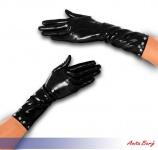 Anita Berg - Halblange Latex Handschuhe mit Nieten