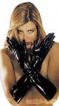 Lange Latex Handschuhe schwarz