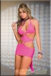 Espiral - Gewagtes scharfes Party Mini-Kleid pink
