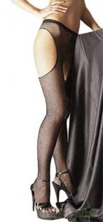 Sex-Netz-Strumpfhose ouvert schwarz