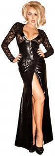 Noir Handmade - Extravagantes langes Kleid mit Corsagen-Top schwarz