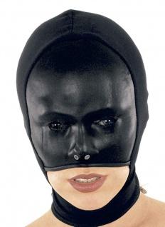 Ledapol - Damen Leder Stretch Kopfmaske mit Zip