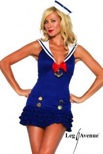 Leg Avenue - Süßes Sailor Rüschen Kostüm Mini-Kleid mit Mütze