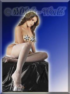 Sex-Netz-Strumpfhose ouvert weiß
