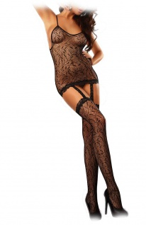 LivCo Heißer Straps-Catsuit / Bodystocking CATRIONA ouvert