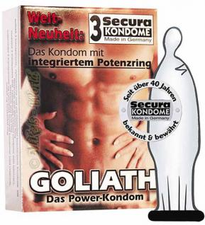 Secura Kondome Goliath mit Potenz-Ring