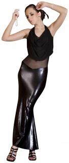 Noir Handmade - Elegantes langes Kleid mit Tüll rückenfrei schwarz