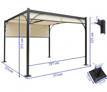 pergola granada pavillon stabiles 6cm alu gestell. Black Bedroom Furniture Sets. Home Design Ideas