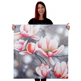 Ölgemälde Blumenzweig, 100% handgemaltes Wandbild Gemälde XL, 90x90cm