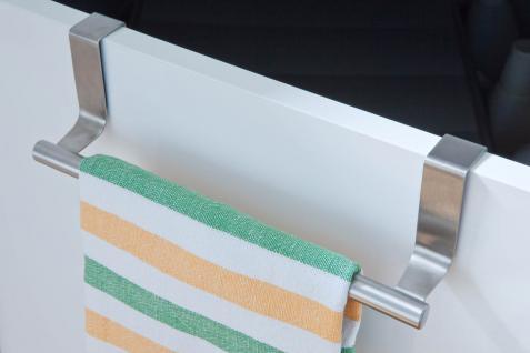Handtuchhalter HE7, Geschirrtuchhalter Handtuchstange, Edelstahl, 7x24x6cm
