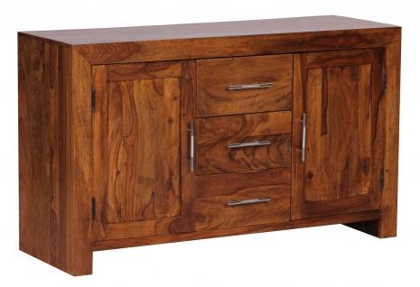 Kommode Malatya, Schrank Sideboard, Sheesham Massivholz, 70x119x40cm
