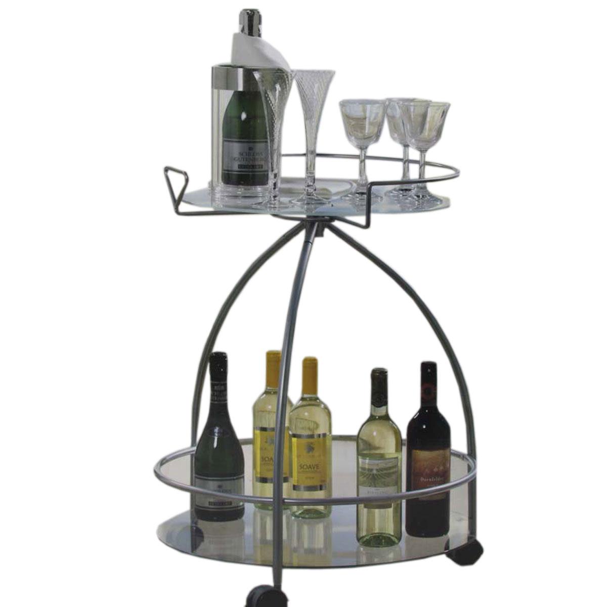 beistelltisch beistellwagen glas d 57cm h 75cm kaufen bei mendler vertriebs gmbh. Black Bedroom Furniture Sets. Home Design Ideas
