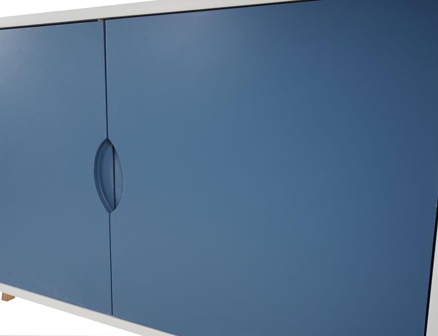 kommode malm t292 schrank retro design 70x80x40cm blaue. Black Bedroom Furniture Sets. Home Design Ideas