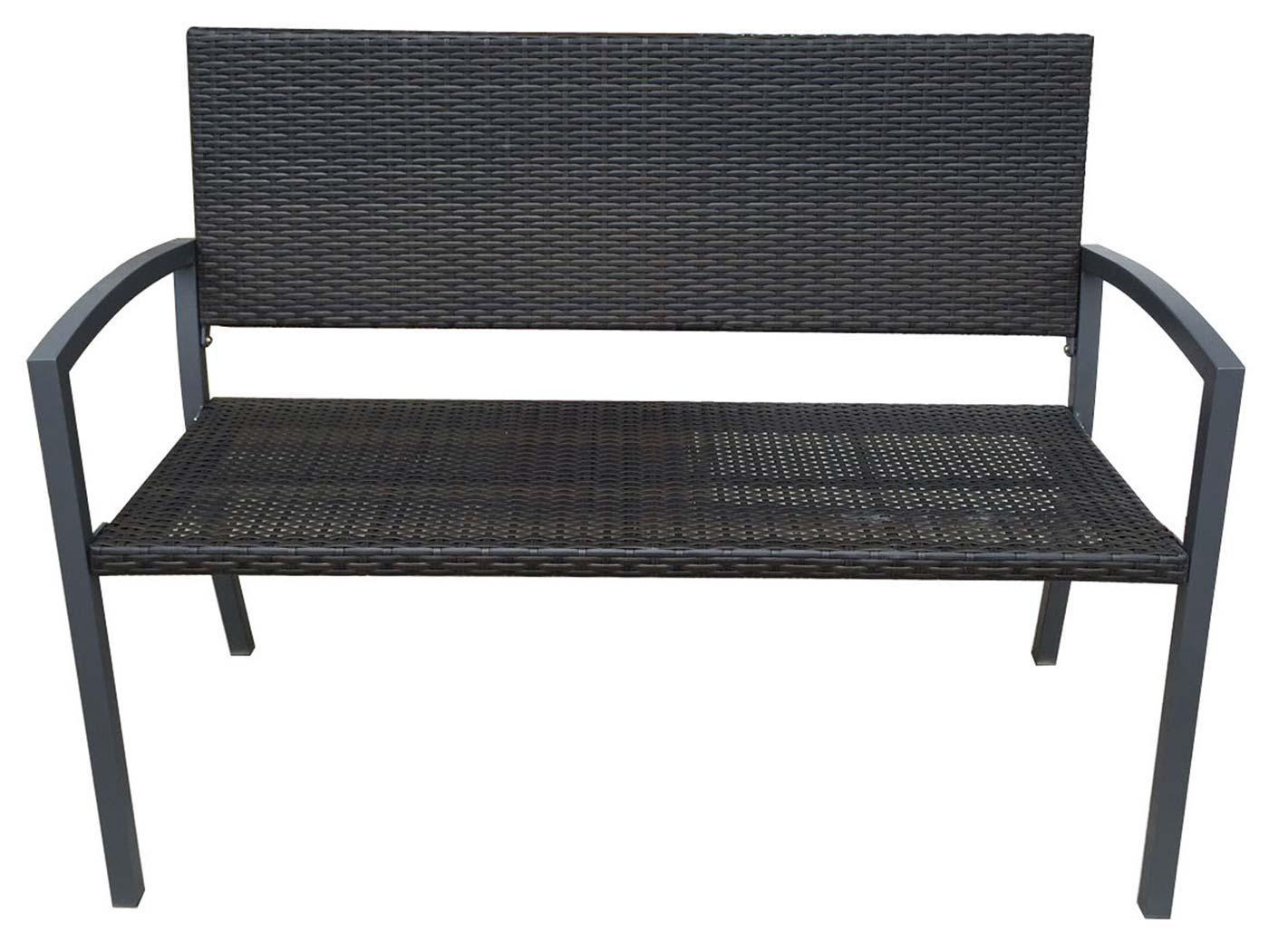 gartenbank fg33 sitzbank bank parkbank poly rattan stahlgestell 100x143x59cm kaufen bei. Black Bedroom Furniture Sets. Home Design Ideas