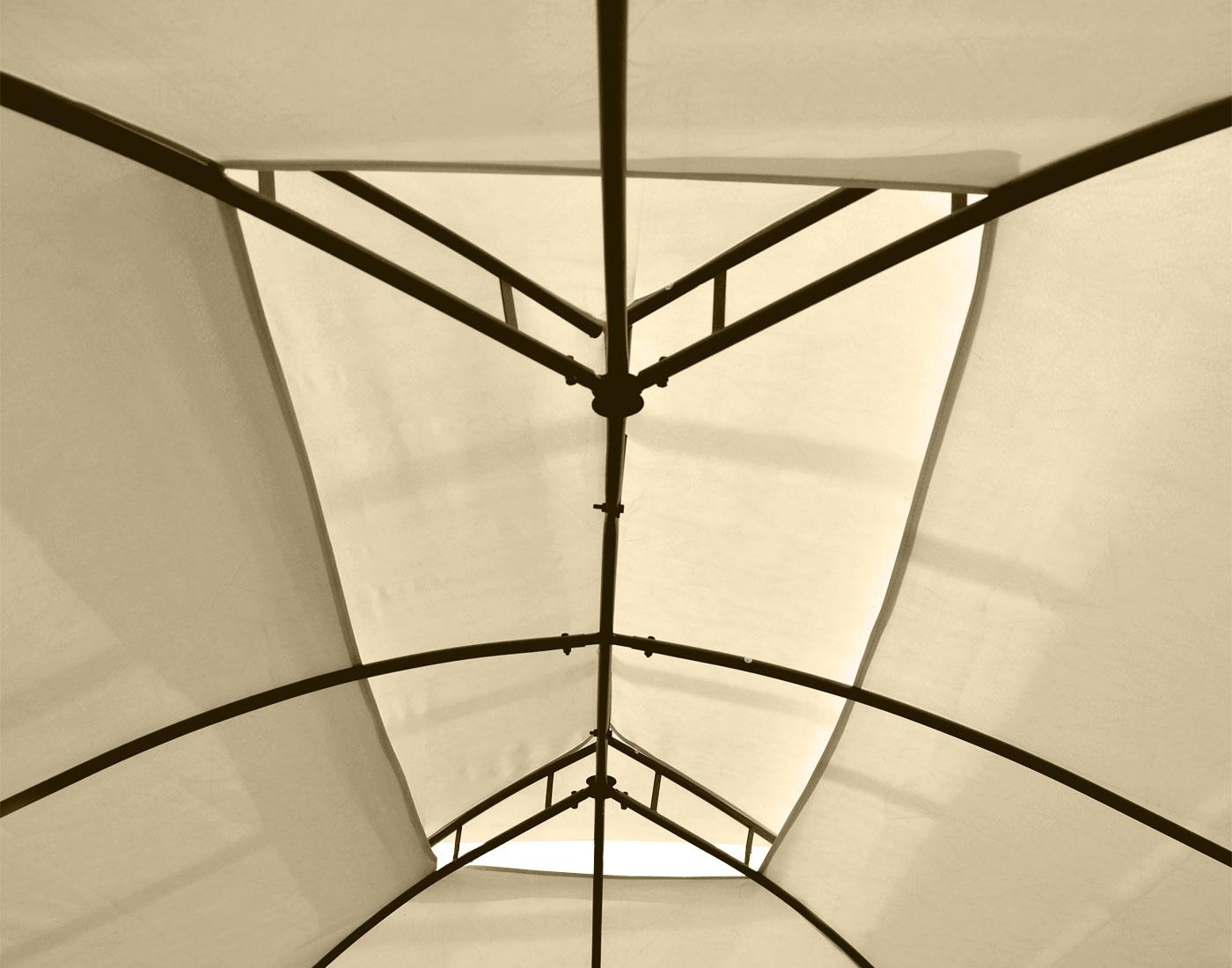 pergola mecina garten pavillon 4cm stahl gestell mit seitenwand 4x3m kaufen bei mendler. Black Bedroom Furniture Sets. Home Design Ideas