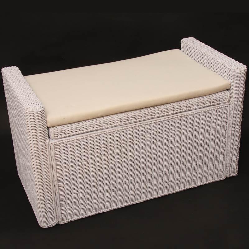 aufbewahrungstruhe truhe sitzbank rattan wei kaufen bei mendler vertriebs gmbh. Black Bedroom Furniture Sets. Home Design Ideas