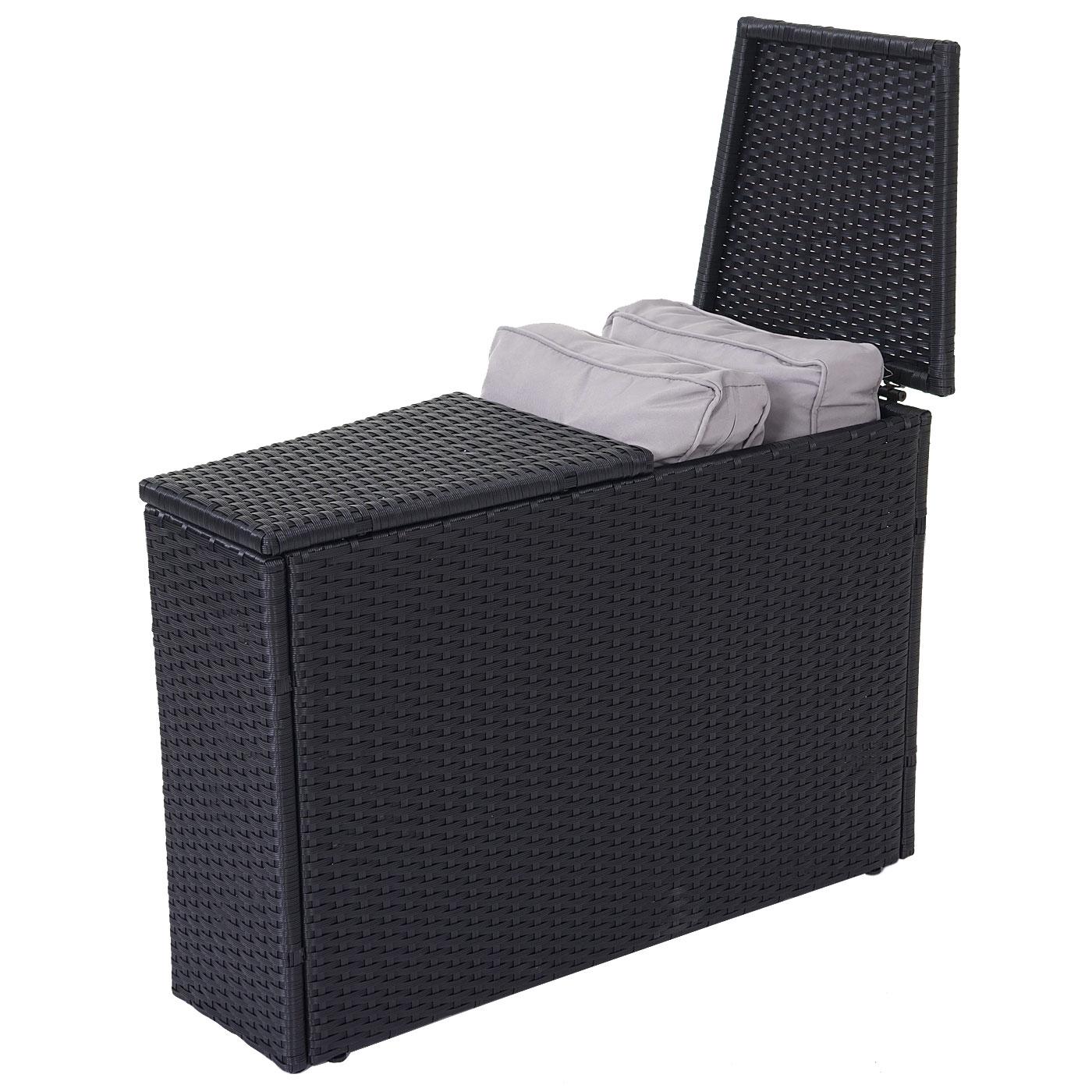 Rattan lounge grau rund  Luxus Poly-Rattan-Garnitur Savoie, Sitzgruppe Lounge-Set, XXL rund ...
