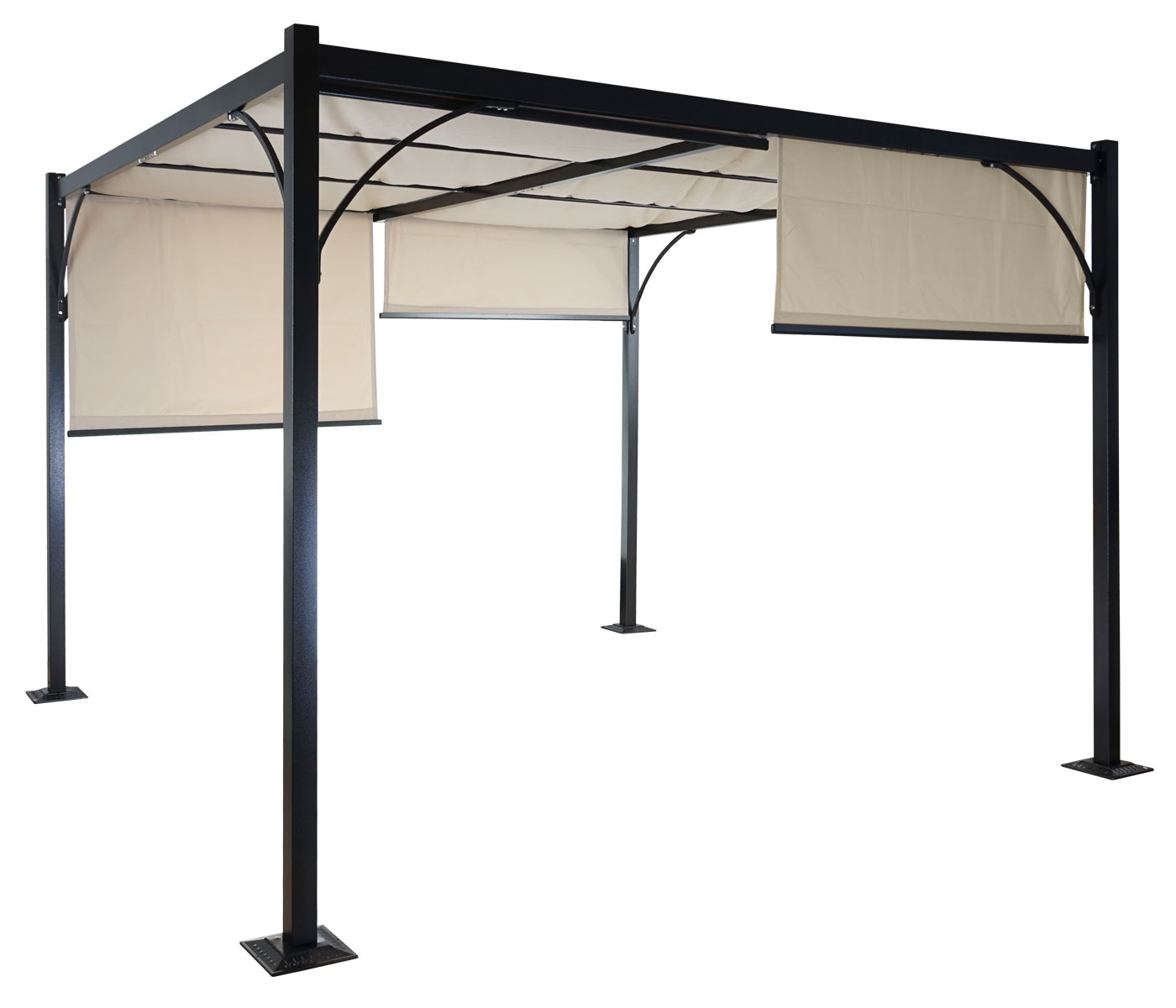 pergola granada pavillon stabiles 6cm alu gestell. Black Bedroom Furniture Sets. Home Design Ideas