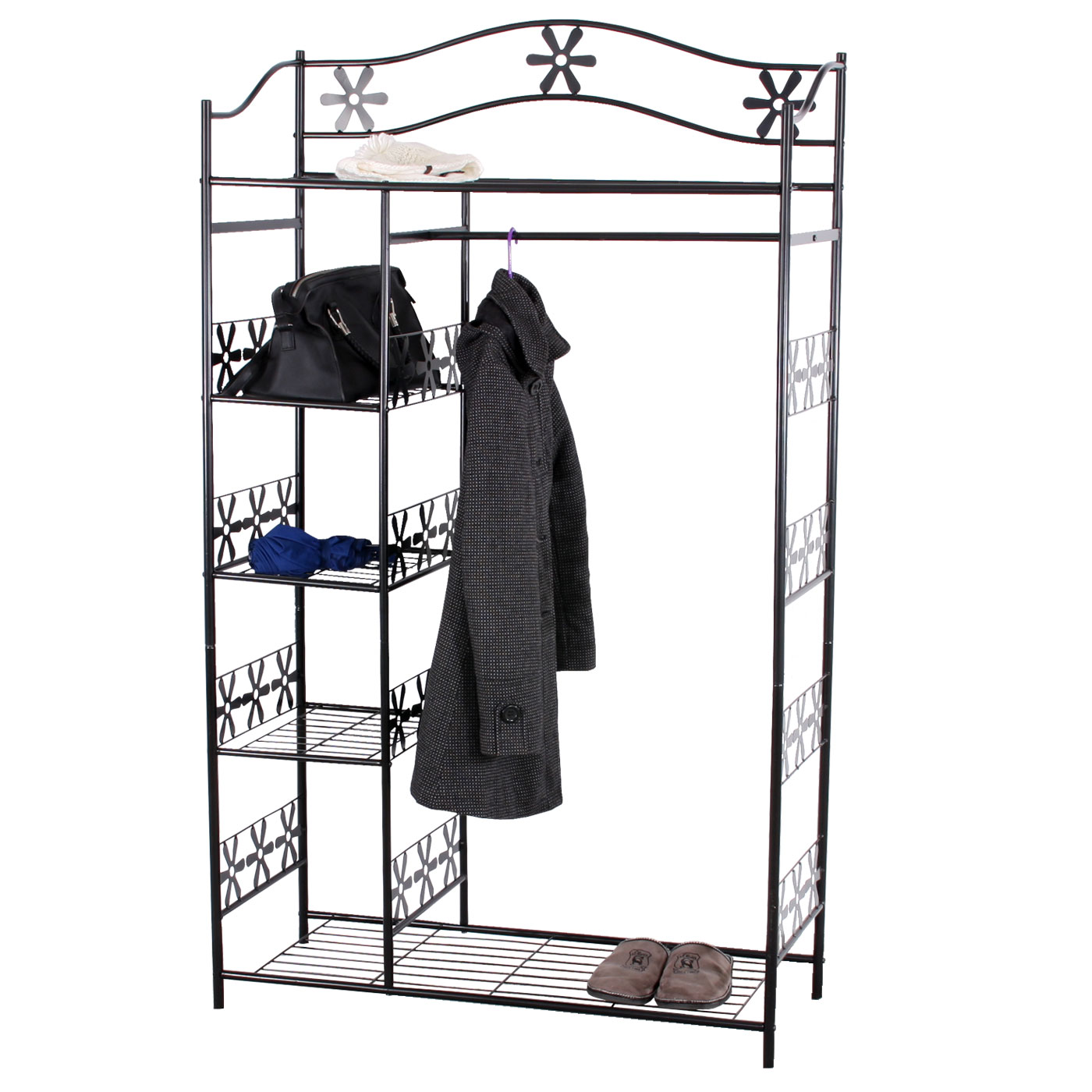 metall garderobe genf garderobenst nder metall regal kaufen bei mendler vertriebs gmbh. Black Bedroom Furniture Sets. Home Design Ideas