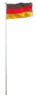 Fahnenmast inkl. Deutschlandfahne, Mast + Flagge, 6, 20m/6, 50m