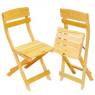 2 x Holzstuhl Gartenstuhl Klappstuhl Olbia Gastroqualität
