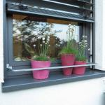 Blumenkastenhalterung HE32, Blumentopfhalter Fenstersimsrahmen, Teleskopfunktion,