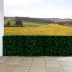 Sichtschutz Windschutz Verkleidung für Balkon Terrasse Zaun Blatt dunkel 300 x 100 cm