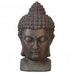 Buddhakopf H50, Deko-Figur, Kunststein, 50x27x29cm