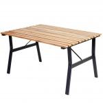 Gartentisch Granada II, Holztisch Tisch, Eucalyptus-Hartholz 60x105x80cm