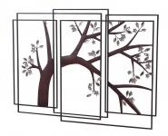 Wanddekoration H52, Wand-Deko Wandbild Deko-Fenster, 79x107x3cm, Blütenbaum
