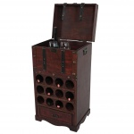 Weinregal Calvados T251, Flaschenregal Regal Holzregal für 12 Flaschen, Kolonialstil 85, 5x46x37cm