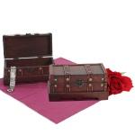 2er Set Holztruhe Holzbox Valence 10x21x10cm eckig