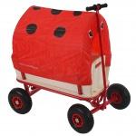 Bollerwagen Oliveira, Sitz, Bremse, Dach käfer rot