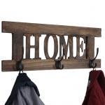 Wandgarderobe Home, Garderobe Garderobenpaneel, Shabby-Look Vintage 55x20cm braun