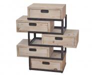 Kommode H22, Schubladenkommode Schrank, verschiebbare Schubladen, 95x49x33cm