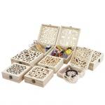 8er Set Holzbox T282, Aufbewahrungsbox Geschenkbox