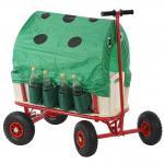Bollerwagen inkl. Sitz, Bremse, Flaschenhalter, Dach Käfer grün