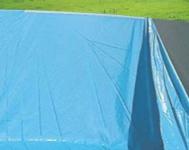 Pool-Innenhülle Innenplane Schwimmbadfolie blau, Stärke 0, 5mm oval 7, 31x3, 65x1, 32m