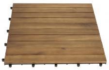 5x XL Holzfliese FG59, Terrassenfliese, Akazienholz geölt, je Fliese 50x50cm